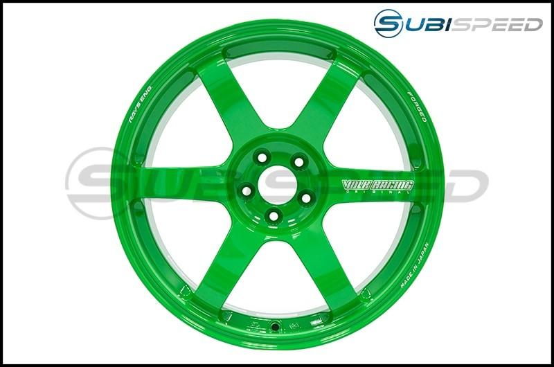 Volk TE37 SAGA Takata Green 18x9.5 +38mm - 2015+ WRX / 2015+ STI
