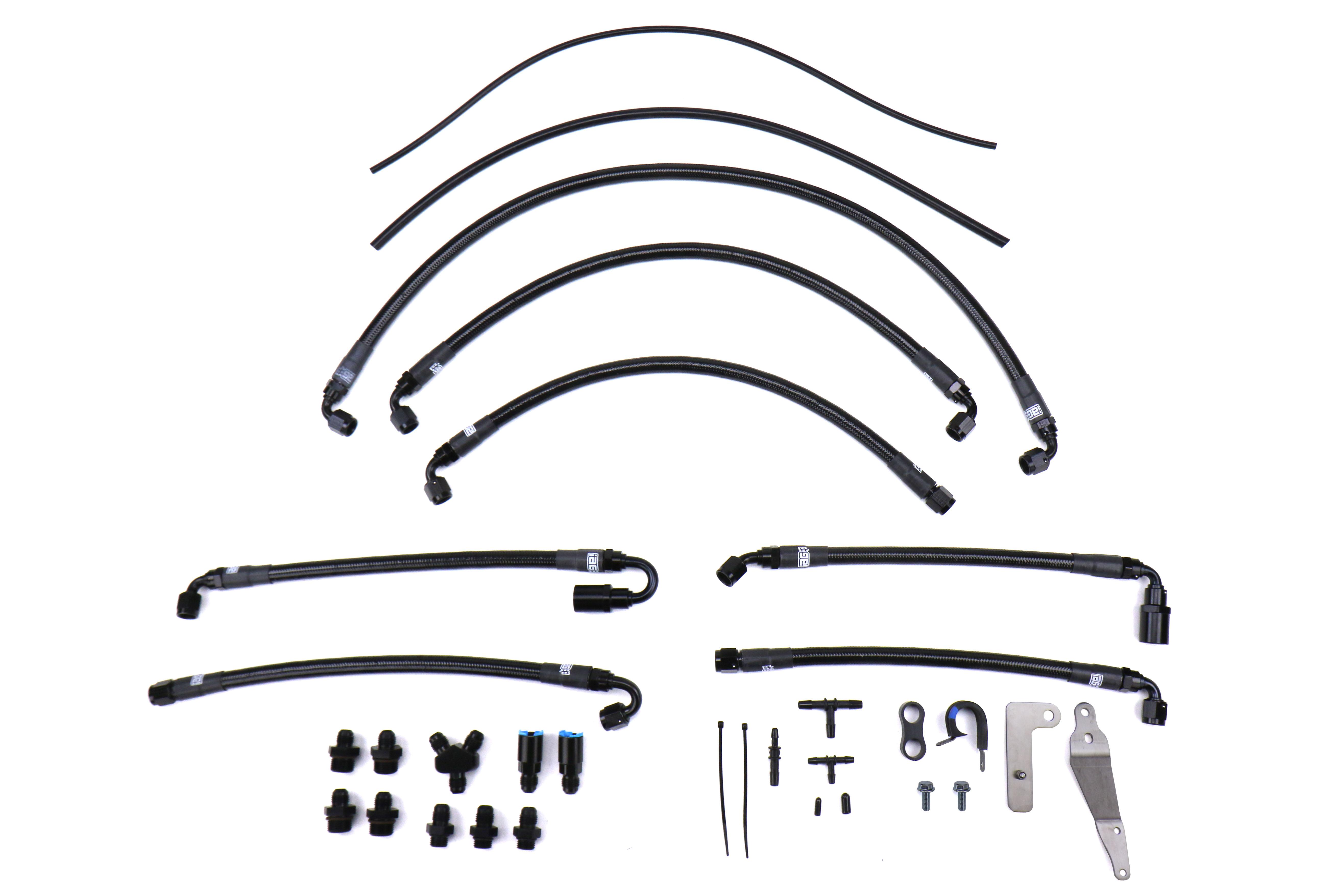 IAG Performance PTFE Fuel Line Kit for use w/ COBB Flex Fuel Sensor