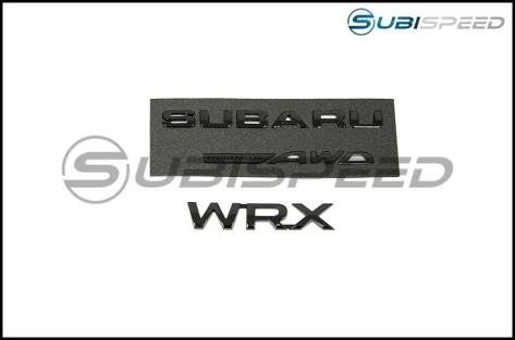 WRX Gloss Black Trunk Badge Pack - 2015+ WRX