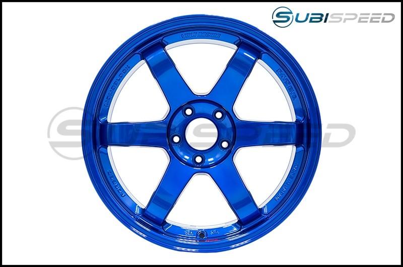 Volk TE37SL Hyper Blue 18x10 +40 - 2015+ WRX / 2015+ STI