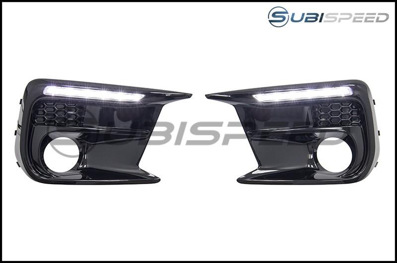 Subaru JDM DRL Fog Light Bezels without Turn Signal Holes