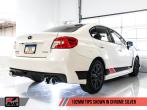 AWE Track Edition Exhaust (Black or Chrome Tips, 102mm) - 2015+ WRX / 2015+ STI