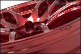 Work Emotion CR Kiwami 18x9.5 +38mm Candy Apple Red - 2015+ WRX / 2015+ STI