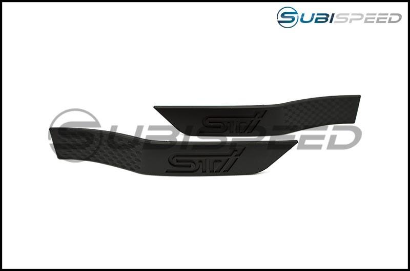 STI Matte Black Fender Emblems