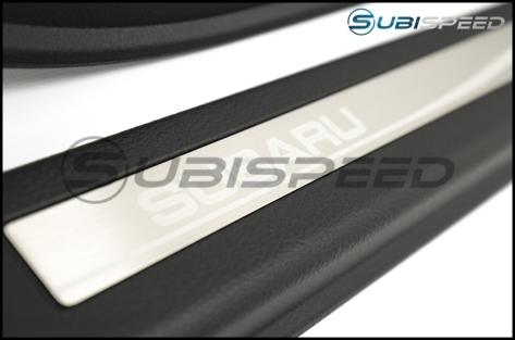 Subaru Silver Etched Door Sills - 2015+ WRX / 2015+ STI