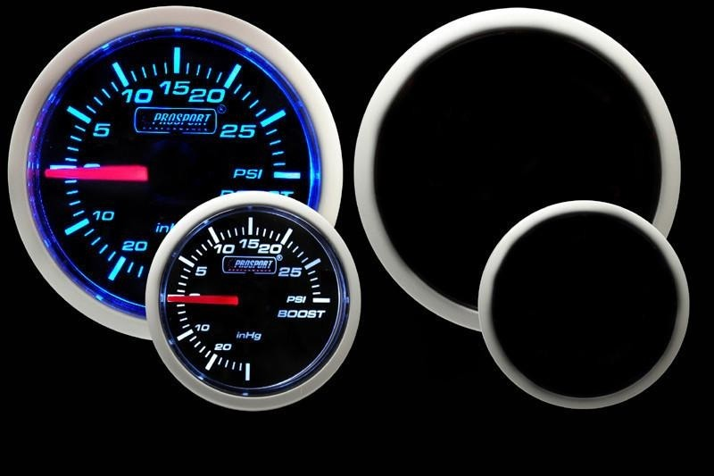 ProSport Electrical Boost Gauge W/ Sender Blue/White 52mm
