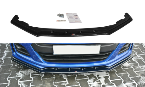 Maxton Design Gloss Black Front Lip Splitter V1 Facelift
