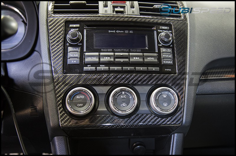 OLM S-Line Dry Carbon Fiber Radio and AC Control Cover