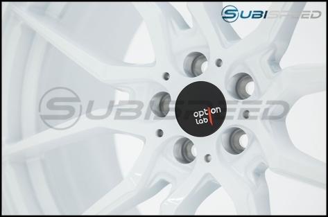 Option Lab R716 18x8.5 +35 Onyx White Wheels