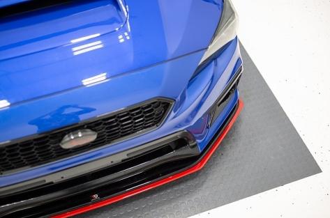 Maxton Design V2 Redline Gloss Black Front Lip - 2015+ WRX / 2015+ STI