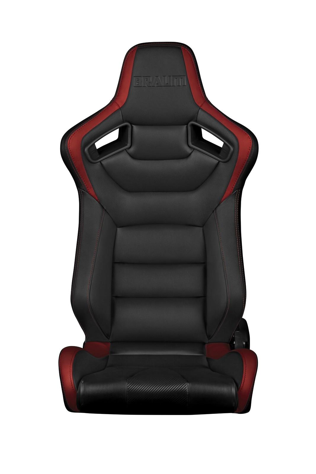 Braum Elite Series Racing Seats (Black & Red) - Universal