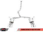 AWE Touring Edition Exhaust (Black or Chrome Tips, 102mm) - 2015+ WRX