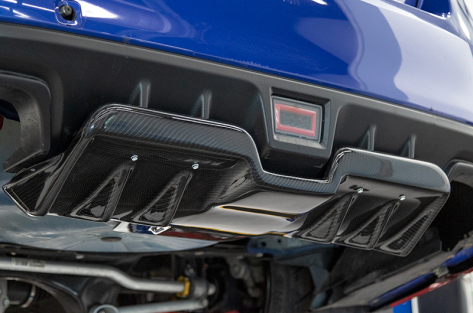 OLM A1 Style Carbon Fiber Rear Diffuser