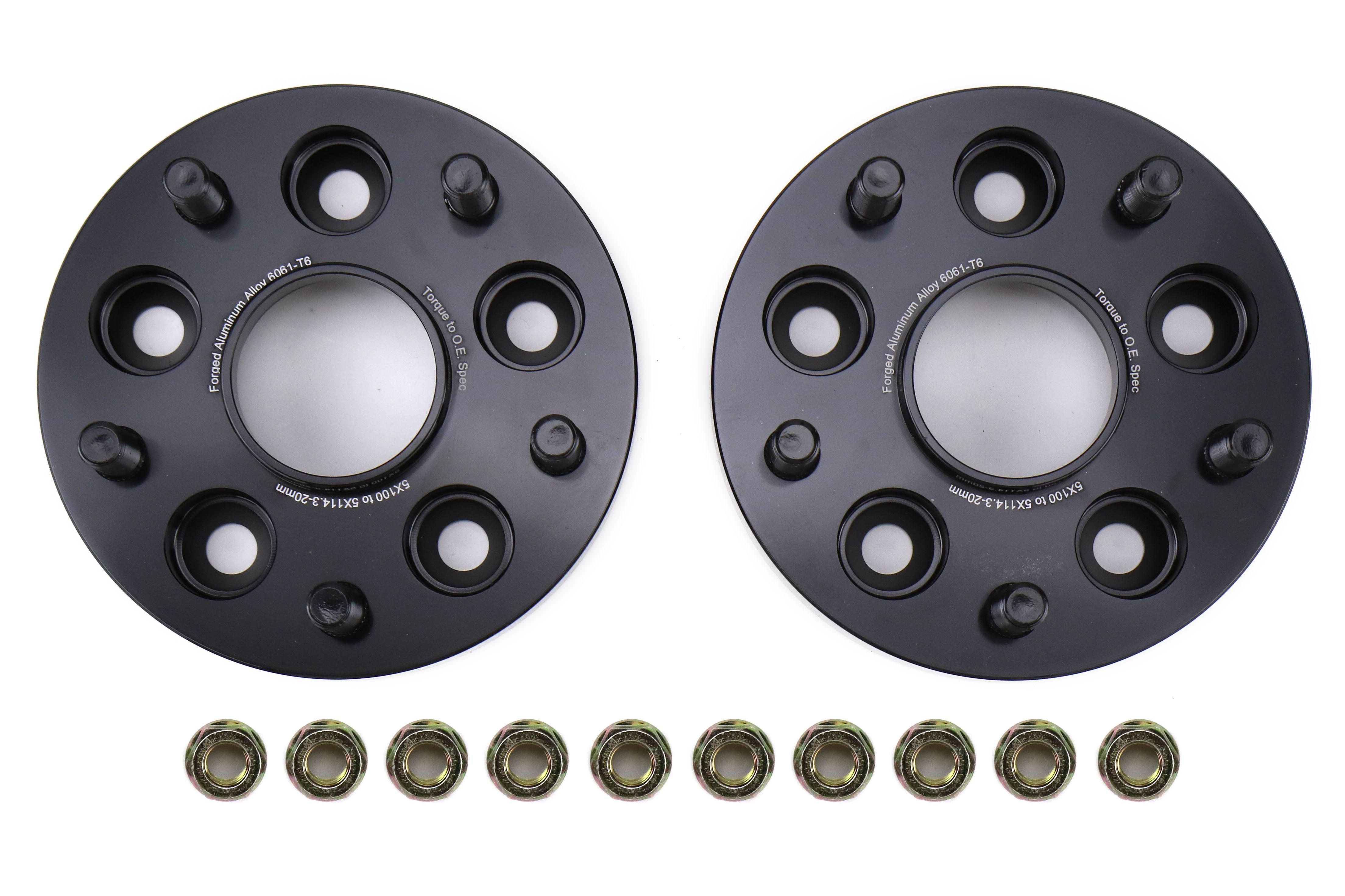 FactionFab Subaru 5X100 to 5X114.3 20mm Wheel Spacer Conversion Set