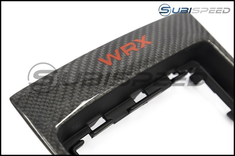 OLM LE Carbon Fiber MT Shifter Trim with Red WRX Logo