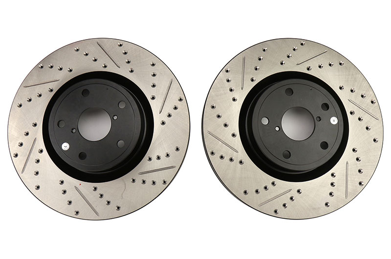 Stoptech Drilled and Slotted Rotor Pair Front