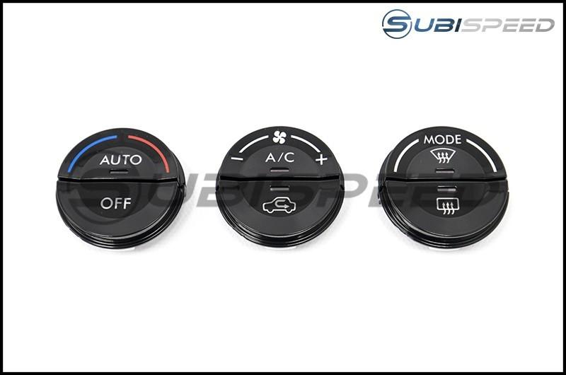 Subaru OEM Single Climate Piano Black Knob Filler Panels