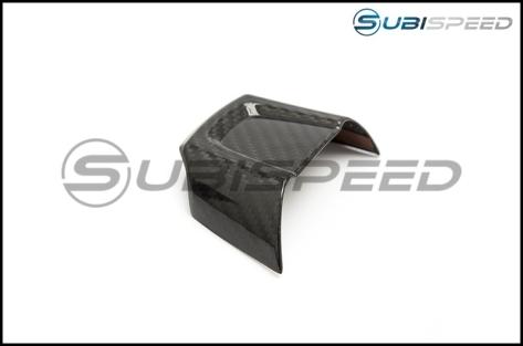 OLM LE Dry Carbon Fiber Lower Steering Wheel Cover - 2015+ WRX / 2015+ STI