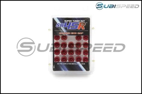 Muteki End Cap Set for SR45R Open Ended Lug Nuts - 2015+ WRX / 2015+ STI / 2013+ FR-S / BRZ / 2014+ Forester