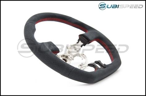 FT-86 SpeedFactory Alcantara Red Stitch Steering Wheel - 2013-2016 FR-S / BRZ / 86