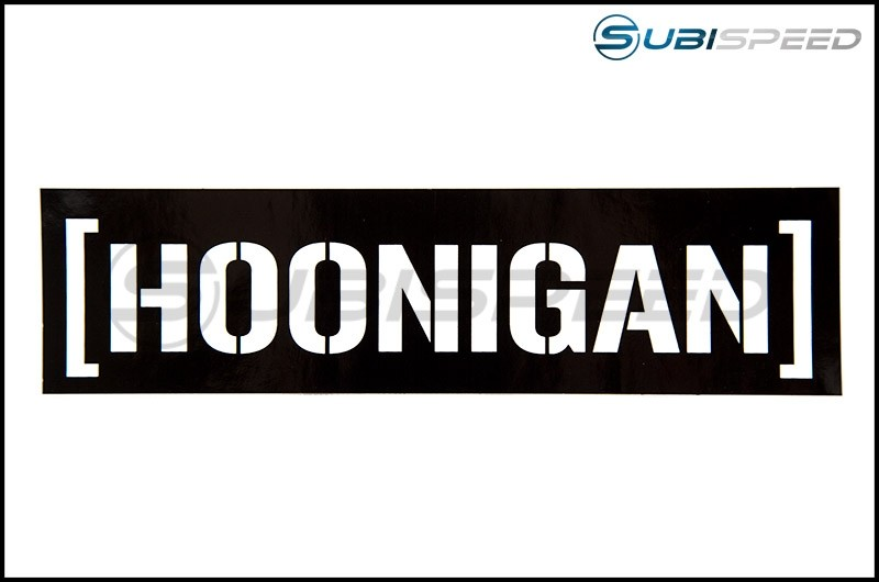 HOONIGAN Censor Bar Sticker Black / White