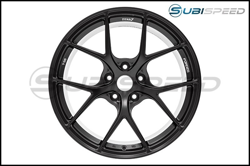 Titan 7 T-S5 Machine Black 17x9 +37 - 2013+ FR-S / BRZ / 86 / 2014+ Forester