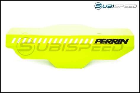 Perrin Neon Yellow Pulley Cover - 2015+ STI