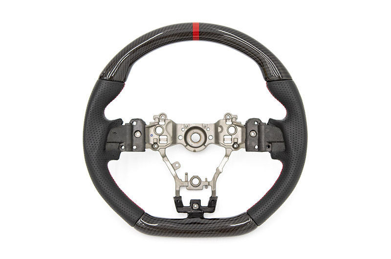FactionFab Steering Wheel Carbon Top/Bottom with Leather Sides