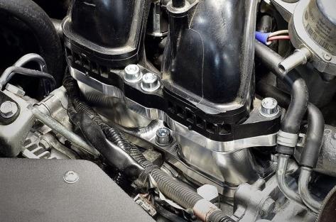 IAG Lower Intake Risers Silver - 2015+ WRX