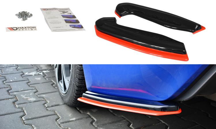 Maxton Design V2 Redline Rear Side Splitters