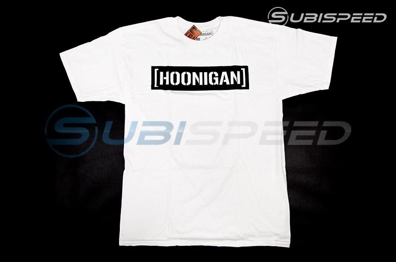 HOONIGAN Bracket Logo Short Sleeve White / Black Tee