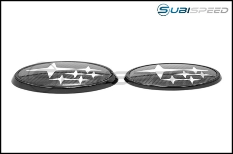Front and Rear Full Replacement Emblems (Gloss Black) - 2015+ WRX / 2015+ STI