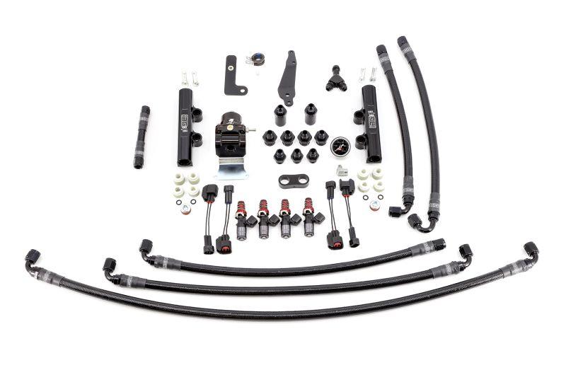 IAG PTFE Flex Fuel System Kit w/ 1300cc Injectors, Lines, FPR, Black Fuel Rails