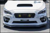 Sticker Fab Vinyl Hood Scoop Overlay (3D Carbon or Black) - 2015-2020 Subaru WRX & STI