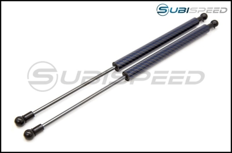 Carbon Reproductions Carbon Kevlar Hood Damper Kit - 13+ FT86-Blue