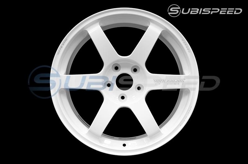 Volk TE37 SAGA Dash White 18x10 +41 - 2015+ WRX / 2015+ STI