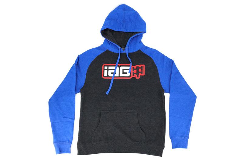 IAG Performance IAG Boxer Logo Hoodie - Black and Blue
