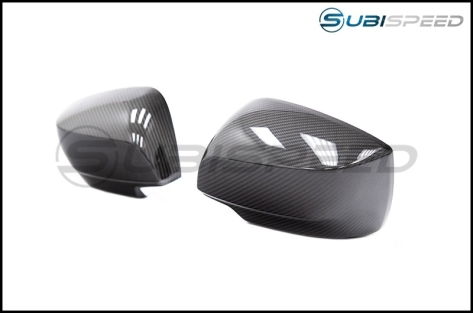 OLM LE Dry Carbon Fiber Full Mirror Covers (No Turn Signal Hole) - 2015+ WRX / 2015+ STI
