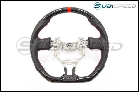 FT-86 SpeedFactory Hydro CF Red Stitching Steering Wheel