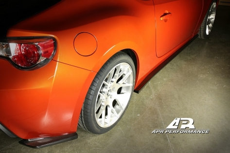 APR Carbon Fiber Rear Bumper Skirts