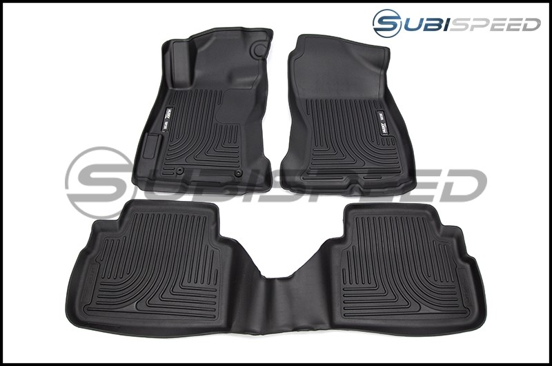Husky Weatherbeater Black Front and Rear Rubber Floor Mats