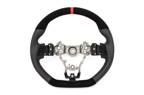 FactionFab Leather and Suede Steering Wheel