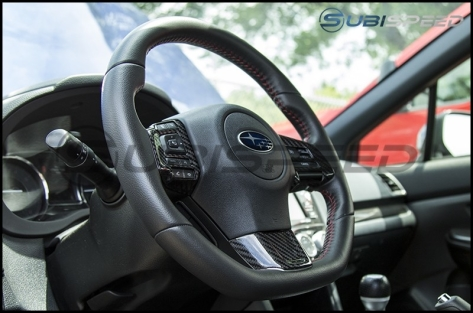 OLM S-line Carbon Fiber Steering Wheel Covers - 2016+ WRX / 2016+ STI