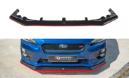 Maxton Design V1 Redline Gloss Black Front Lip - 2015+ WRX / 2015+ STI
