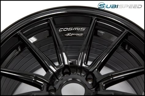 Cosmis Racing R1 18x9.5 +35mm Gloss Black- 2015+ WRX / 2015+ STI