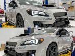 Sticker Fab Special Edition Dark Smoke Carbon SubiSpeed Headlght Overlay - 2015-2021 Subaru WRX & STI