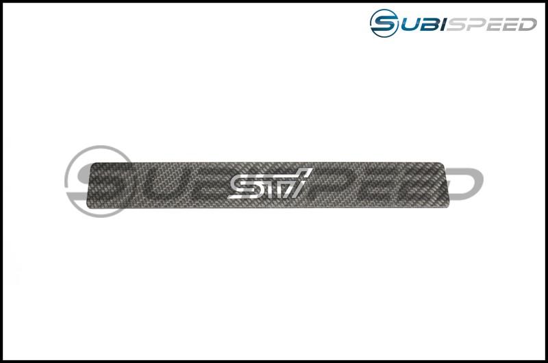 RSP White STI Logo License Plate Delete