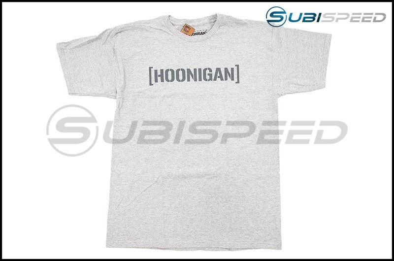 HOONIGAN Bracket Logo Short Sleeve Heather Gray Tee
