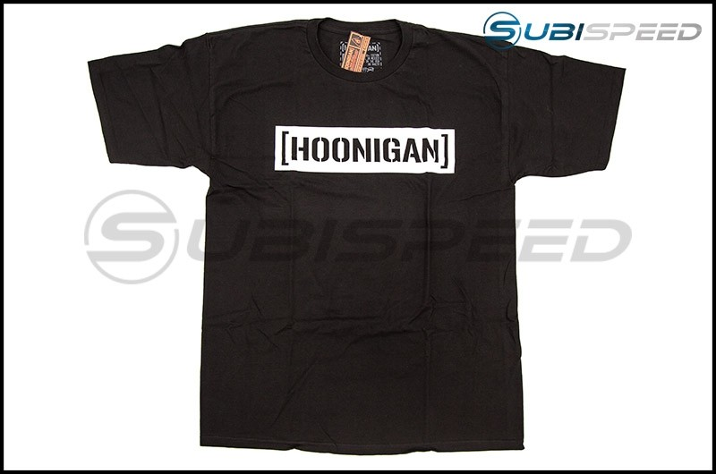 HOONIGAN Bracket Logo Short Sleeve Black / White Tee