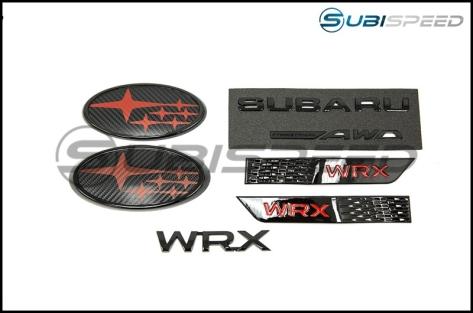 WRX Gloss Black Emblem Pack - 2015+ WRX / 2015+ STI